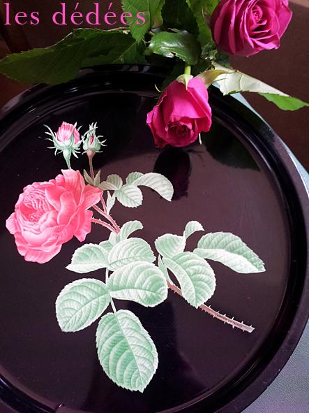 les dedees vintage recup creations jolis plateaux l 39 important c 39 est la rose by anne. Black Bedroom Furniture Sets. Home Design Ideas
