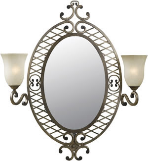 Hunter-Kenroy 91469DS Lattice 2 Light Vanity Mirror