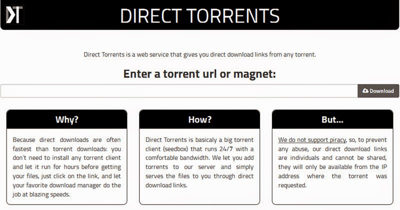 Direct torrent download