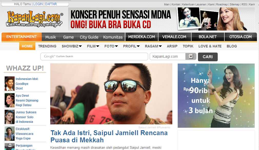 Download Template Ala kapanLagi.com