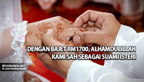 Dengan bajet RM1,700, Alhamdulillah kami sah menjadi suami isteri!..