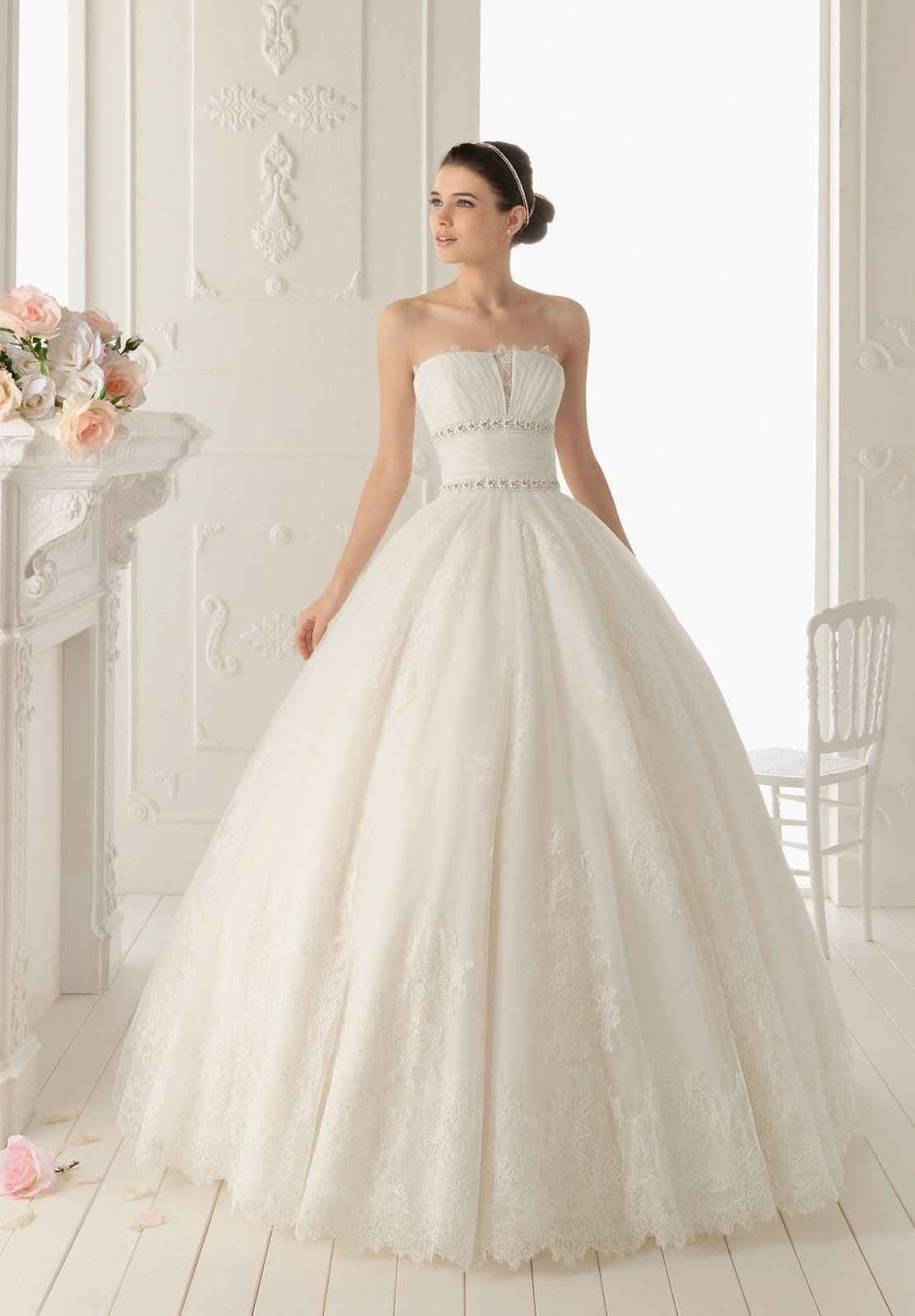 Whiteazalea ball gowns lace ball gown wedding dress for Elegant wedding party dresses