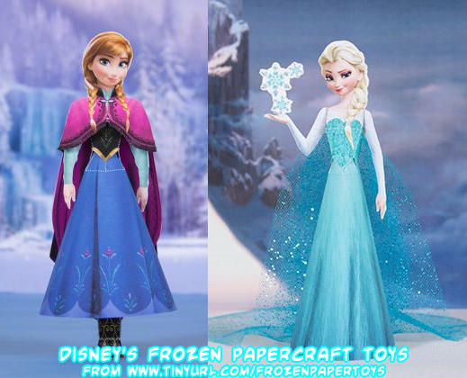 Disneys Frozen Anna Elsa Papercraft Toys