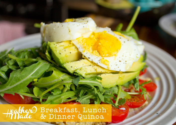 Breakfast, Lunch & Dinner Quinoa recipe