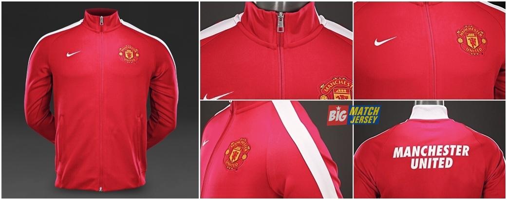 Nike N98 Man Utd Authentic Track Jacket FA 2014-2015 Diablo Red White