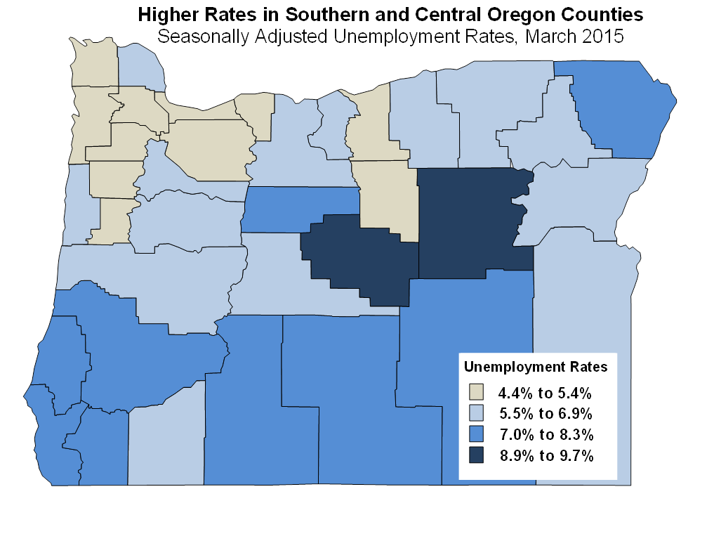 Oregon Workforce And Economic Information Oregon Unemployment - Us counties with lowest unemployment rate
