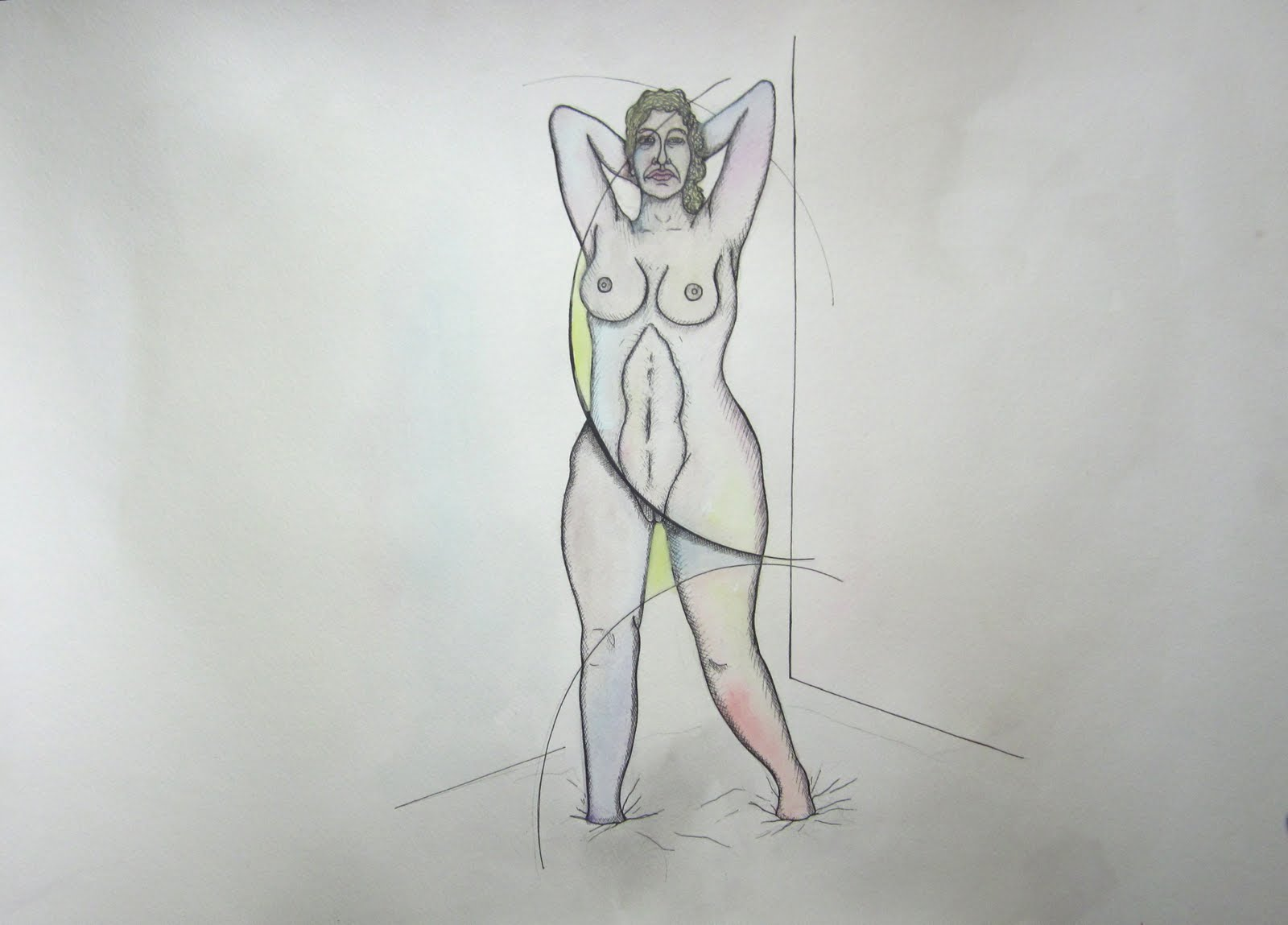 Nude Women With Open Angle