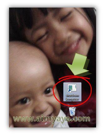 Gambar: Contoh icon shortcut Shutdown Computer