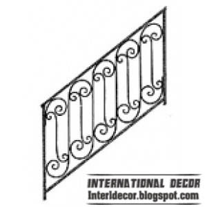 unique iron stairs railing design 2013 Iron stairs railings designs   Iron staircase railings designs