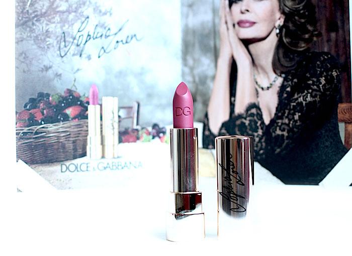 dolce gabbana lipstick n°1 sophia loren rouge à lèvres avis test swatch