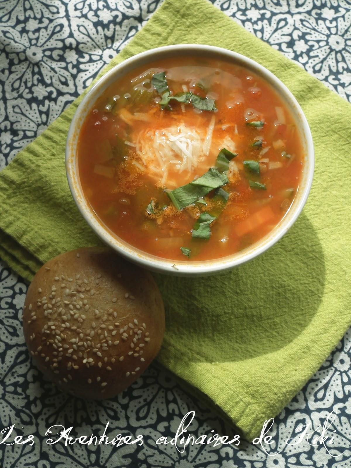 faits avec amour les aventures culinaires de kiki soupe aux lentilles et aux l gumes l 39 italienne. Black Bedroom Furniture Sets. Home Design Ideas