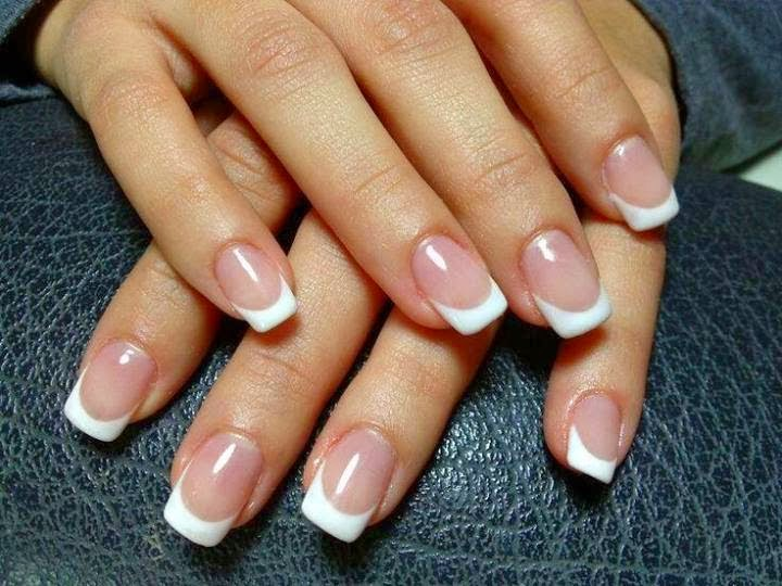 Natural looking french acrylic nails | Nail Art and Tattoo Design ...