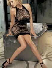 Stretch Honeycomb Fishnet Dress
