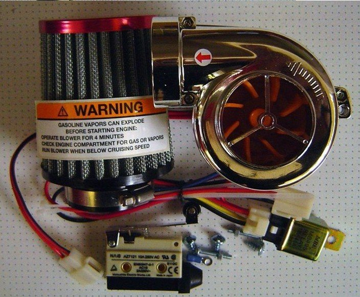 Motorcycle Turbo Kit - DIY Turbo-500 motorcycle Turbo kit Electronic turbocharger   Motorcycle Turbocharger Kit