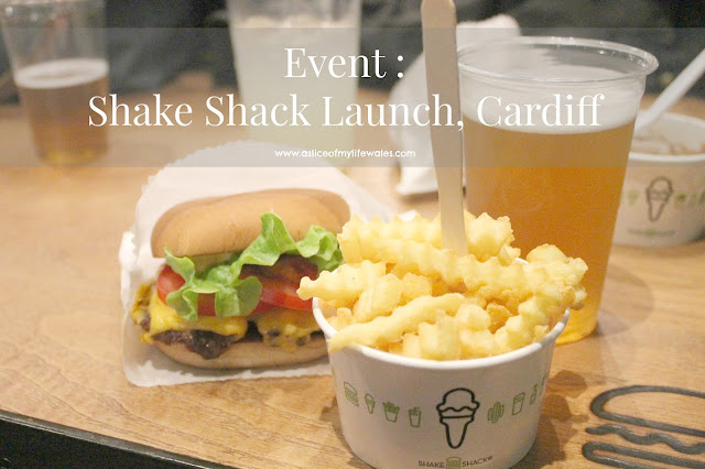 blog post shake shack Cardiff launch event