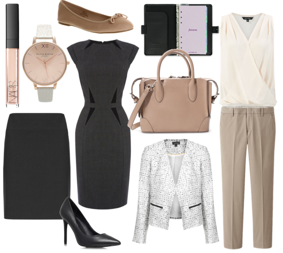 The Capsule Work Wardrobe, Work Wear Essentials, Essential Work Clothing and Accessories