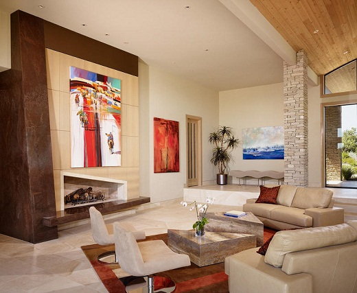 Painting ideas and fireplace for best home design