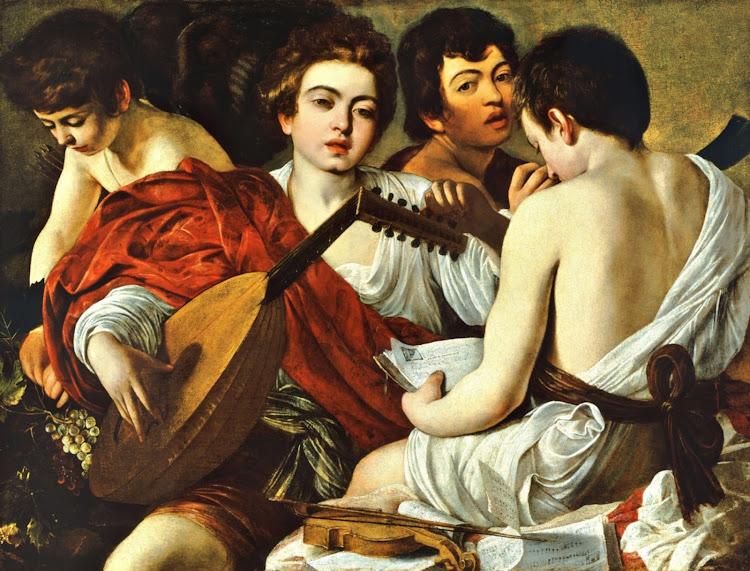 Caravaggio - The Musicians (c.1595)