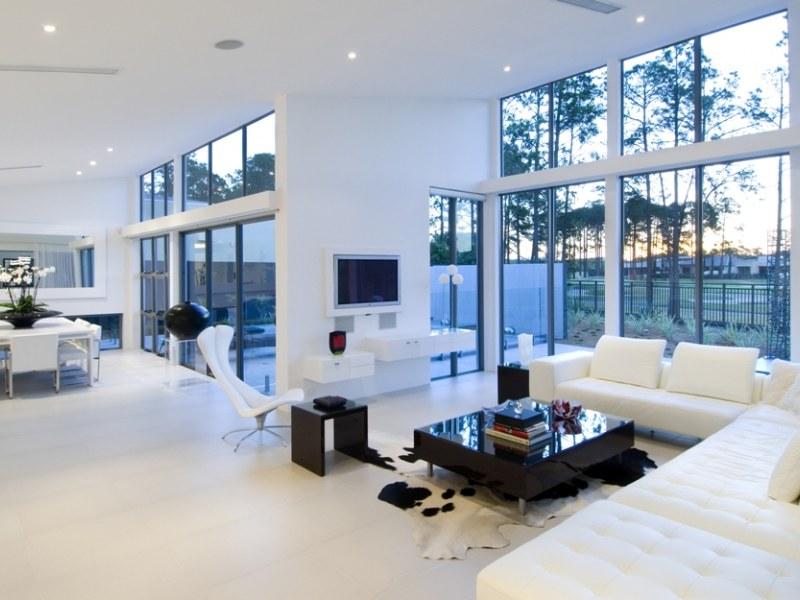 Casas minimalistas y modernas el living comedor moderno for Fotos living comedor