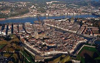Vista aérea de Bayona, Francia