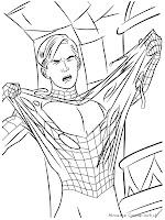 Halaman Mewarnai Gambar Spiderman