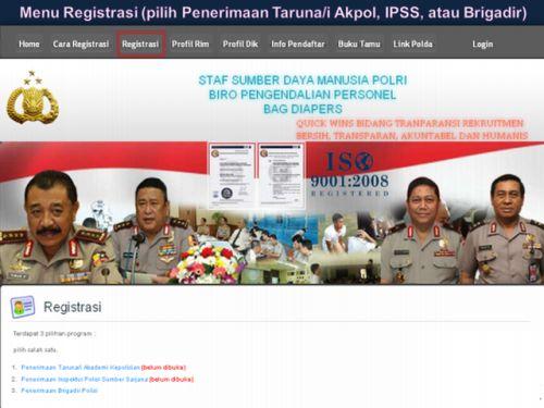 Tata Cara Registrasi Masuk Anggota Polri