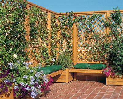 Arte y jardiner a superficies verticales materiales - Celosia con jardinera ...