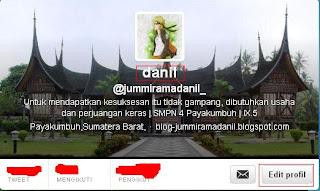 Cara Membuat Nama Twitter Kelihatan Kosong