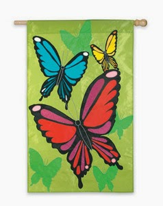 butterfly spring house flag