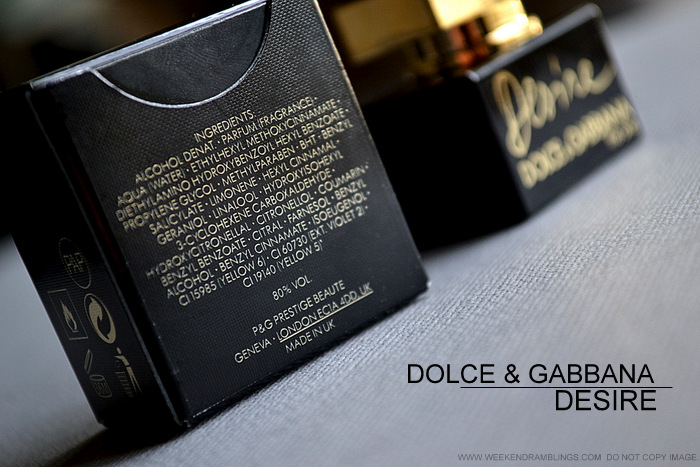 Dolce Gabbana Desire Eau de Parfum Designer Fragrances Perfumes for Women Review Ingredients
