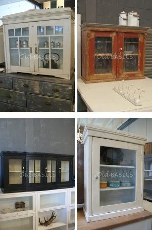 Old basics brocante wandkasten - Oude stijl keuken wastafel ...