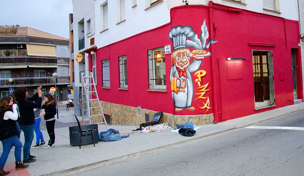Graffiti influencias for Decoracion pizzeria