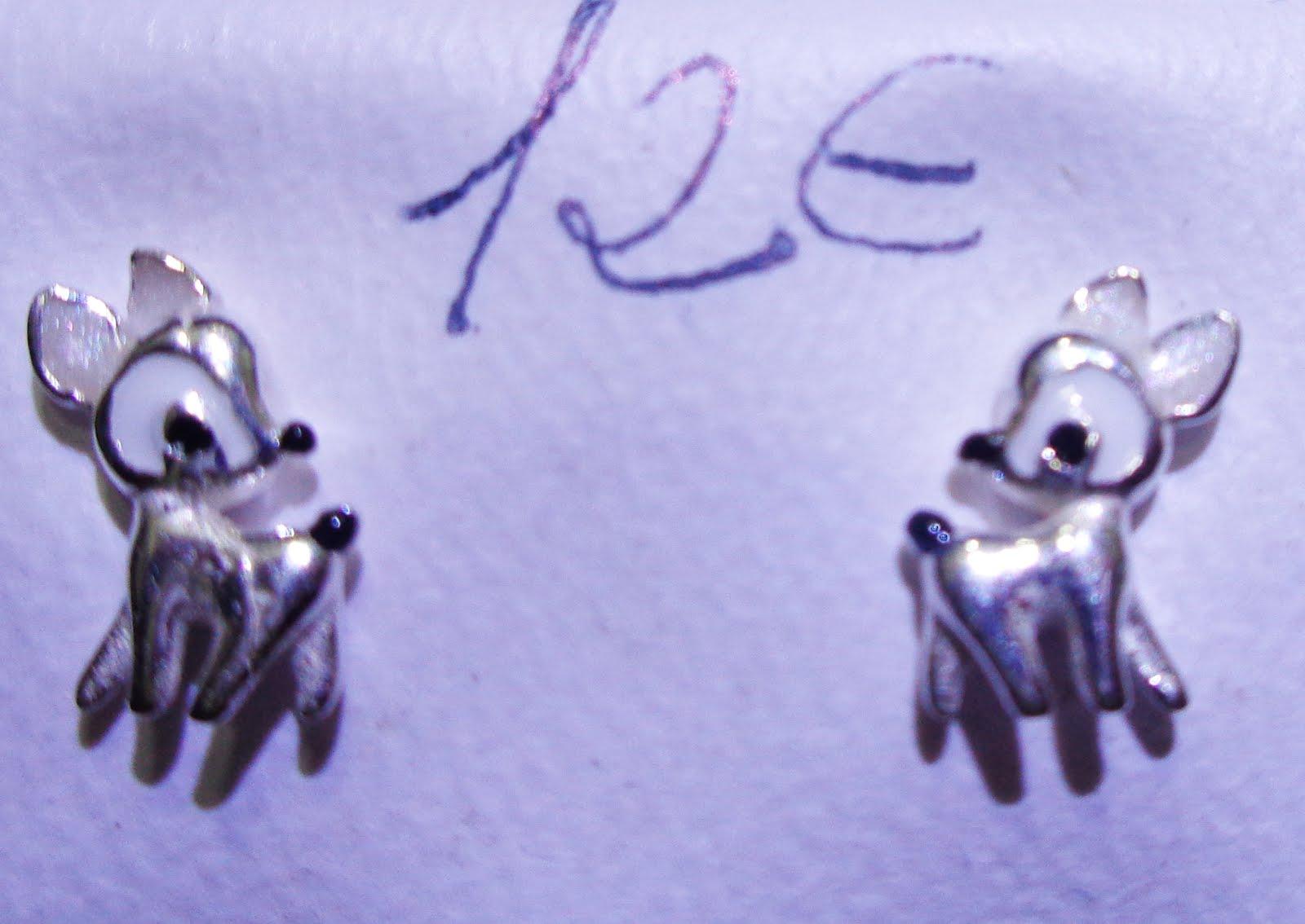 Pendientes de plata Bambi