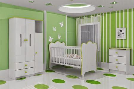 Dormitorios para beb color verde ideas para decorar - Dormitorios para bebe ...