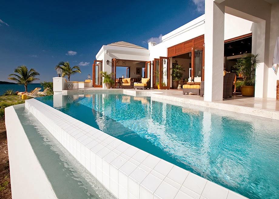 Luxury life design island views caribbean villa for Villas with infinity pools