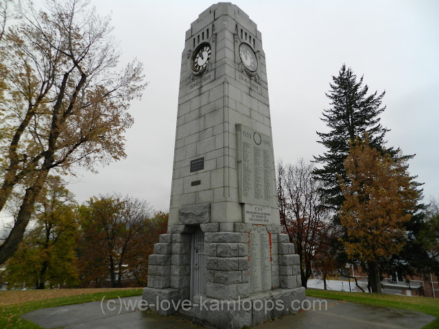 The cenotaph was constructed following WW 1 to honor those killed in war.