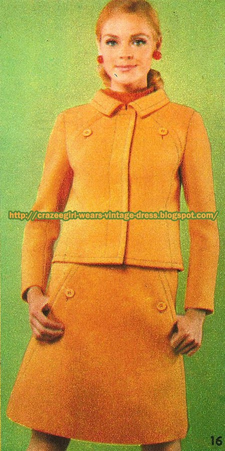 Yellow wool skirt suit - Wébé - 1967 60s 1960