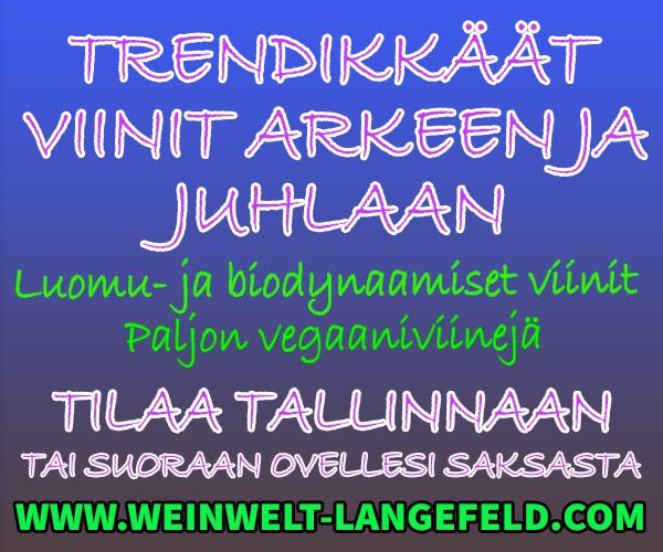Luomu- ja biodynaamiset juhlajuomat!