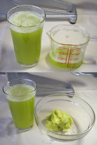 ジュースマシンで作った搾り立てのきゃべつジュース