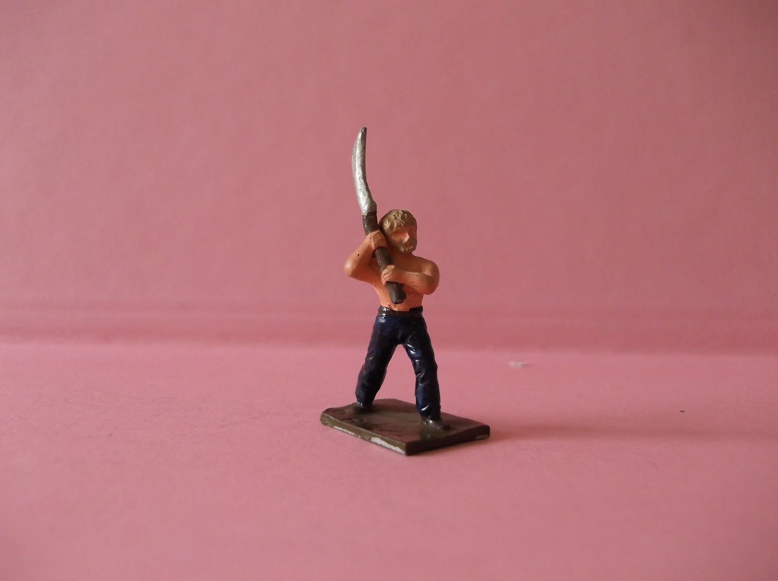 Collectible 54mm Persian warrior Mercenary Tin soldier Phrygian spearman