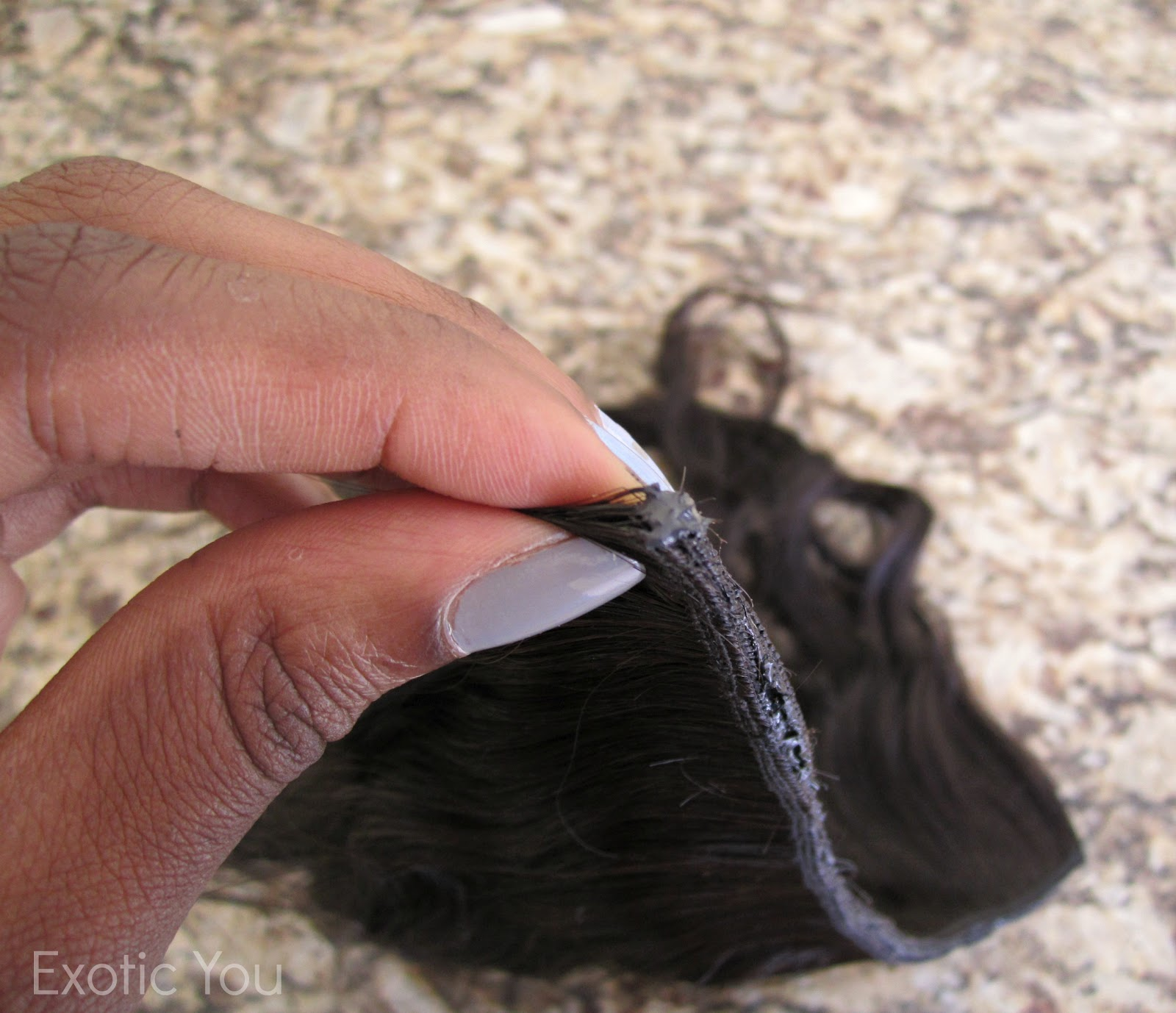 Sewing Wig Clip To Hair 100
