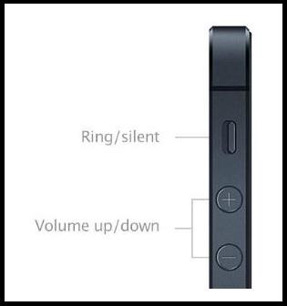 Control de volumen de iphone 5
