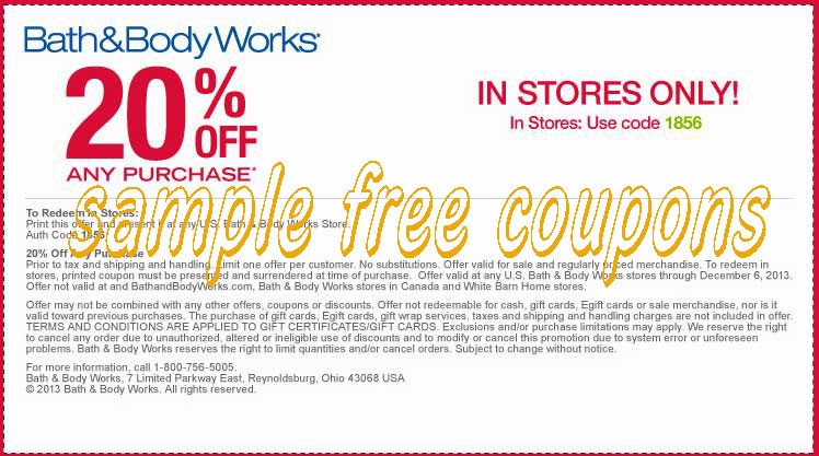 Bath and body works coupon code