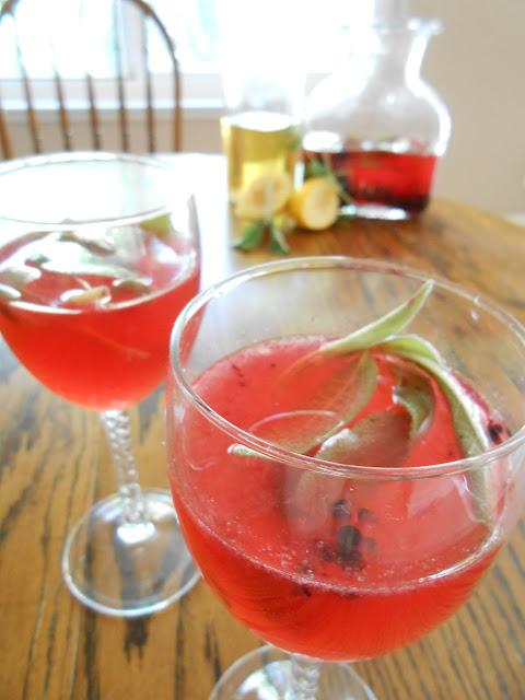 Tipsy Blackberry Sage Lemonade - Flora Foodie