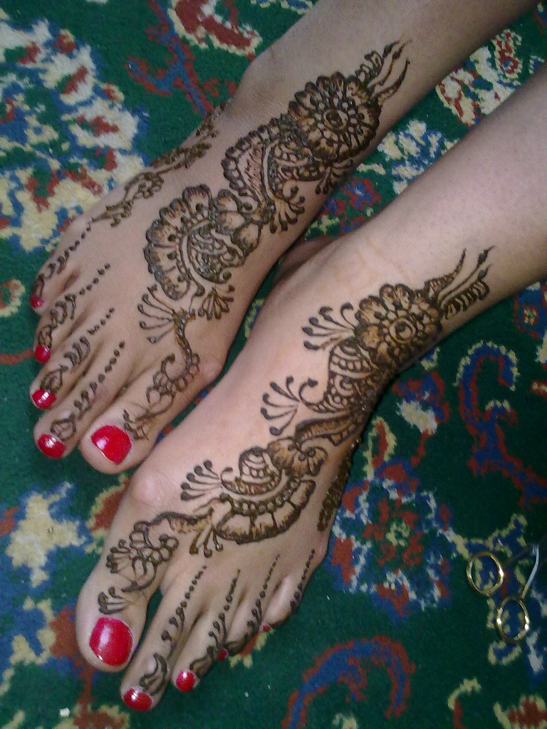Mehndi Design New : Bridals feet mehndi designs dulha dulhan