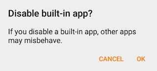 Disable Built-in App