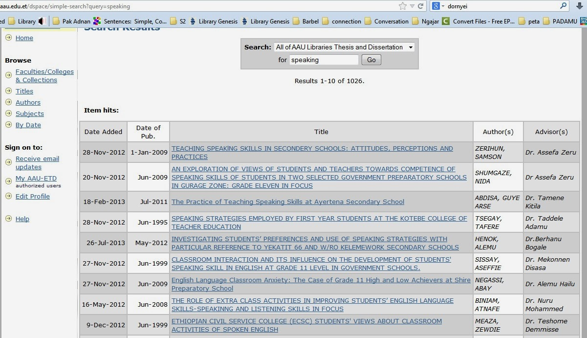 Thesis Database