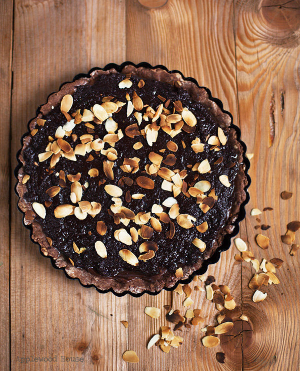 Triple Chocolate Tarte baking for chocoholics