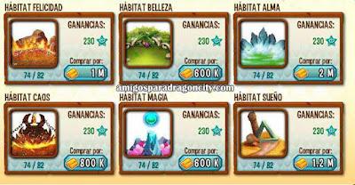 imagen de los habitat ancestrales de dragon city