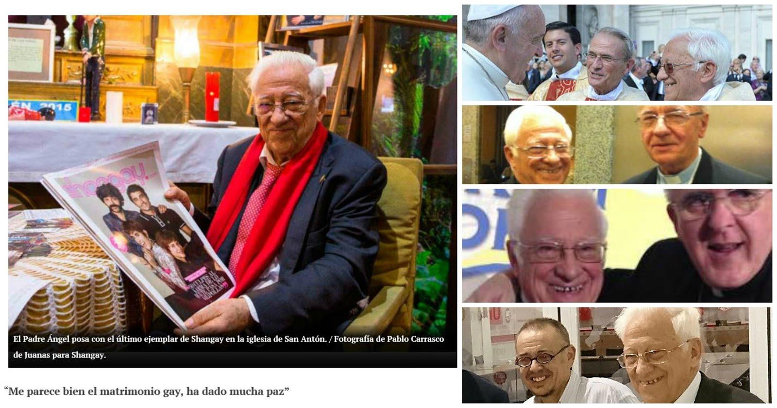 Apostata Padre Angel distribuye impuenemente revista gay en la parroquia.